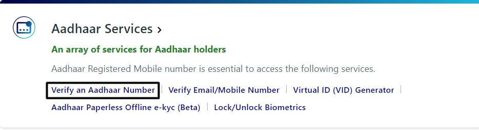 check-aadhar-card-mobile-number-option